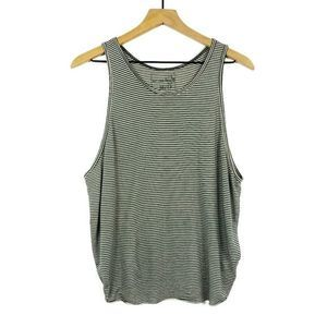 Free People We The Free Green Striped Tank Top